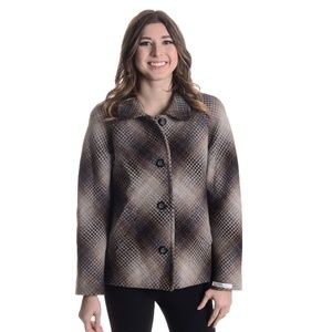 NEW Pendleton Square Knit Pea Coat